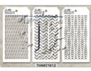 MTHS012 Stampers Anonymous Tim Holtz Layering Stencil - Mini Stencil Set #12
